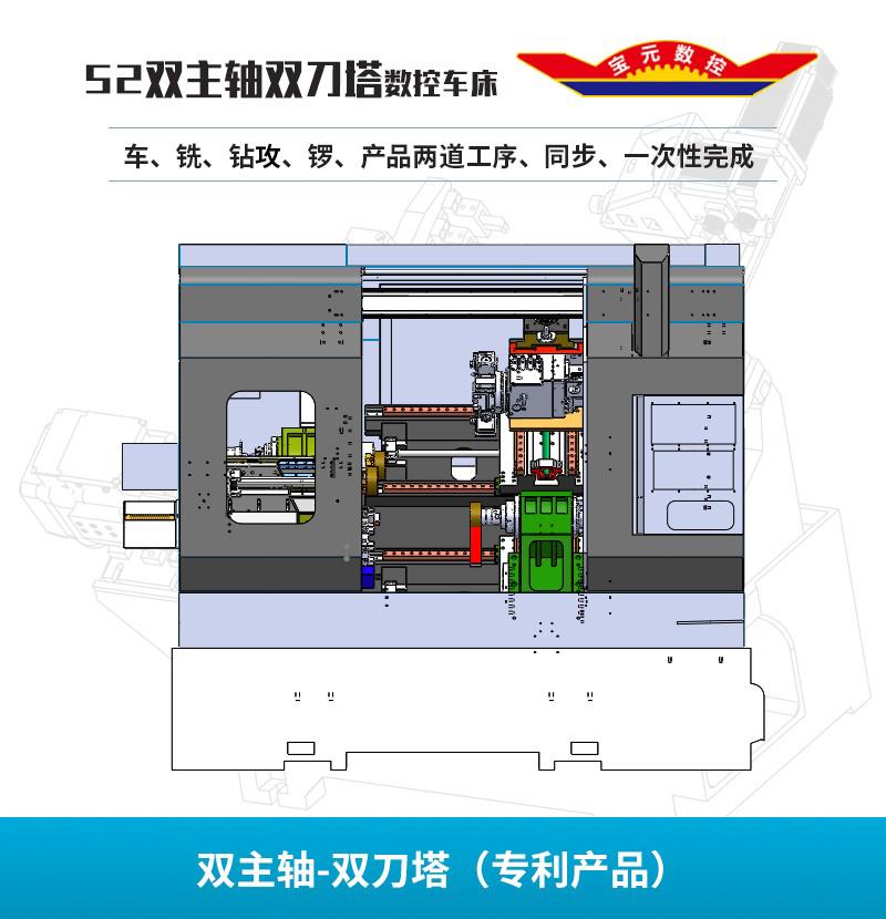 长岛双主轴-Y轴动力刀塔(专利产品)